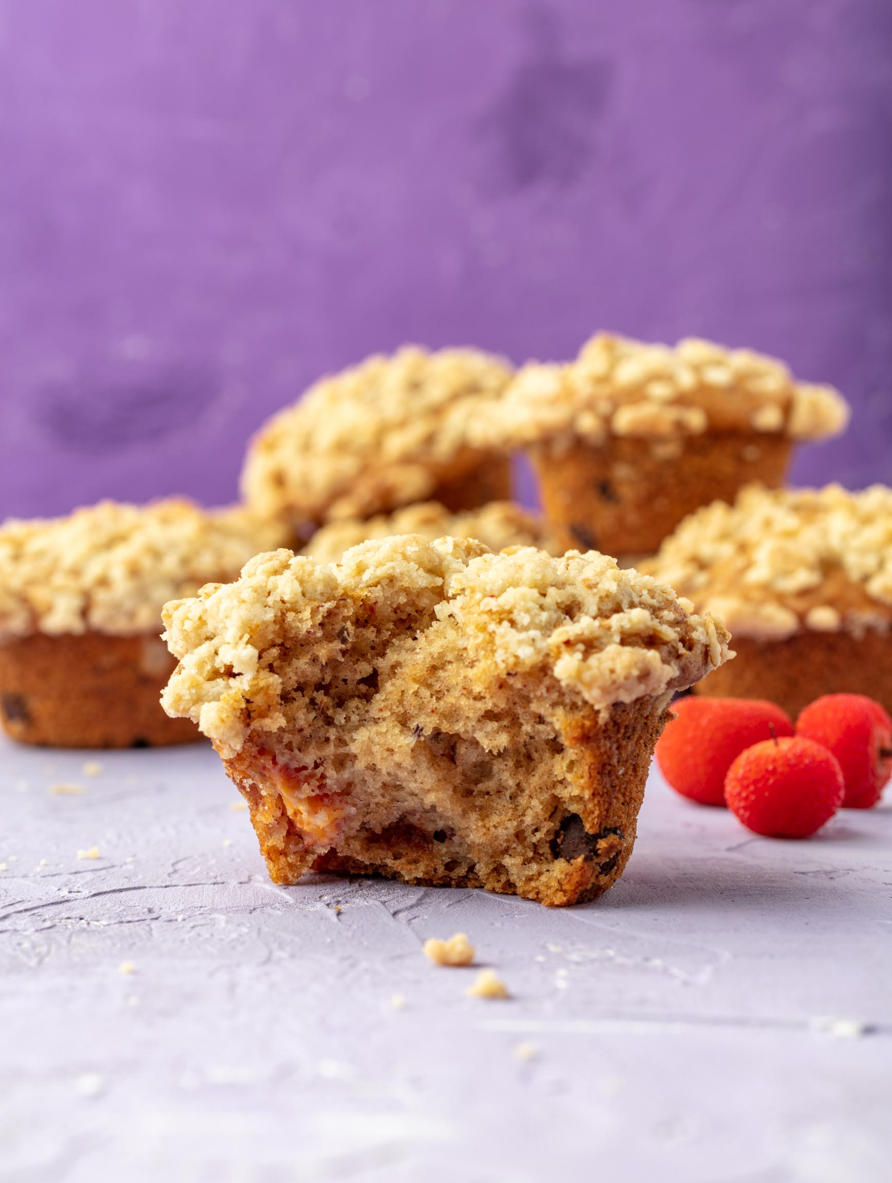 vegan bearberry muffins