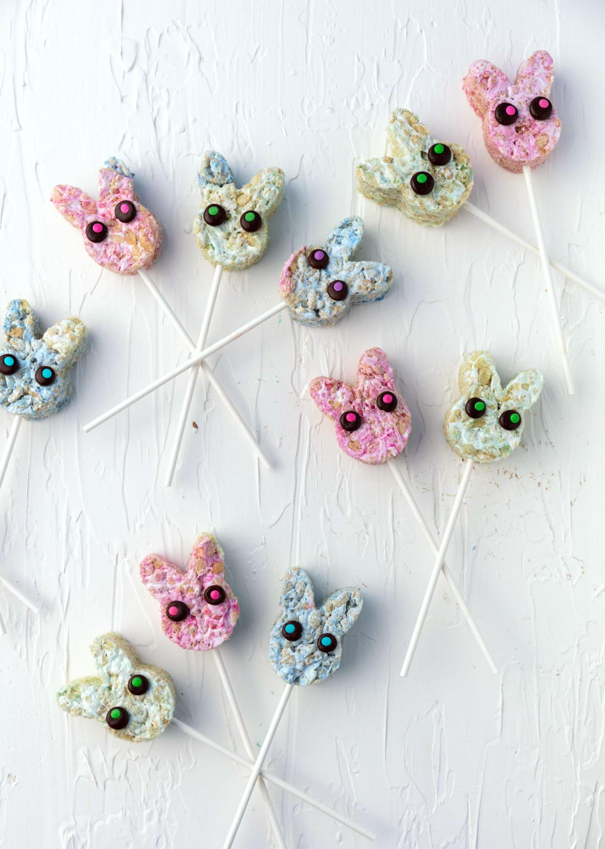 pastel Easter bunny lollipops