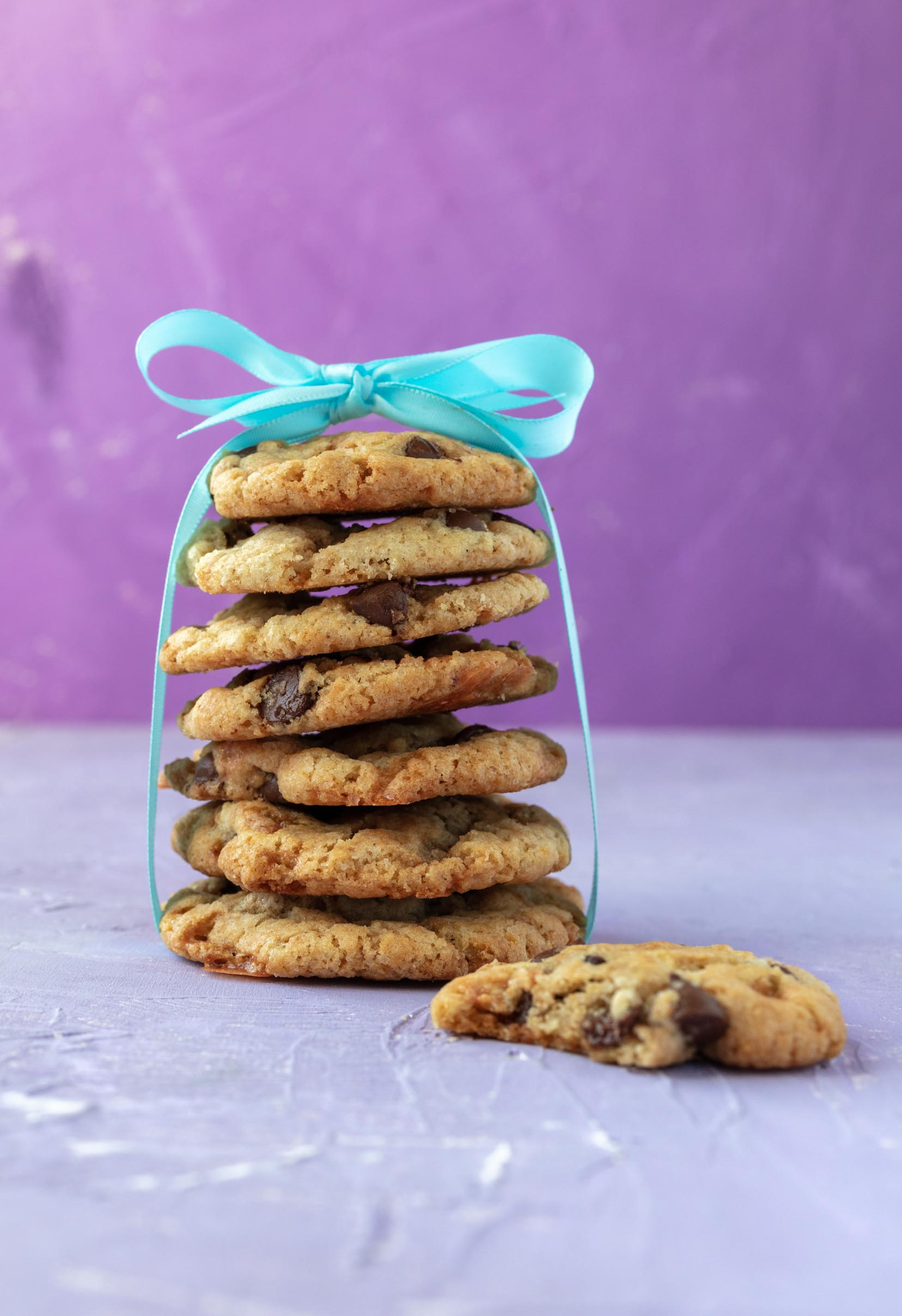 stack of vegan butterfinger cookies