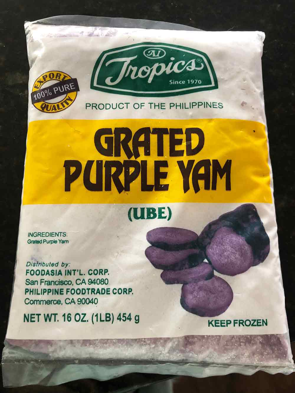 frozen grated ube
