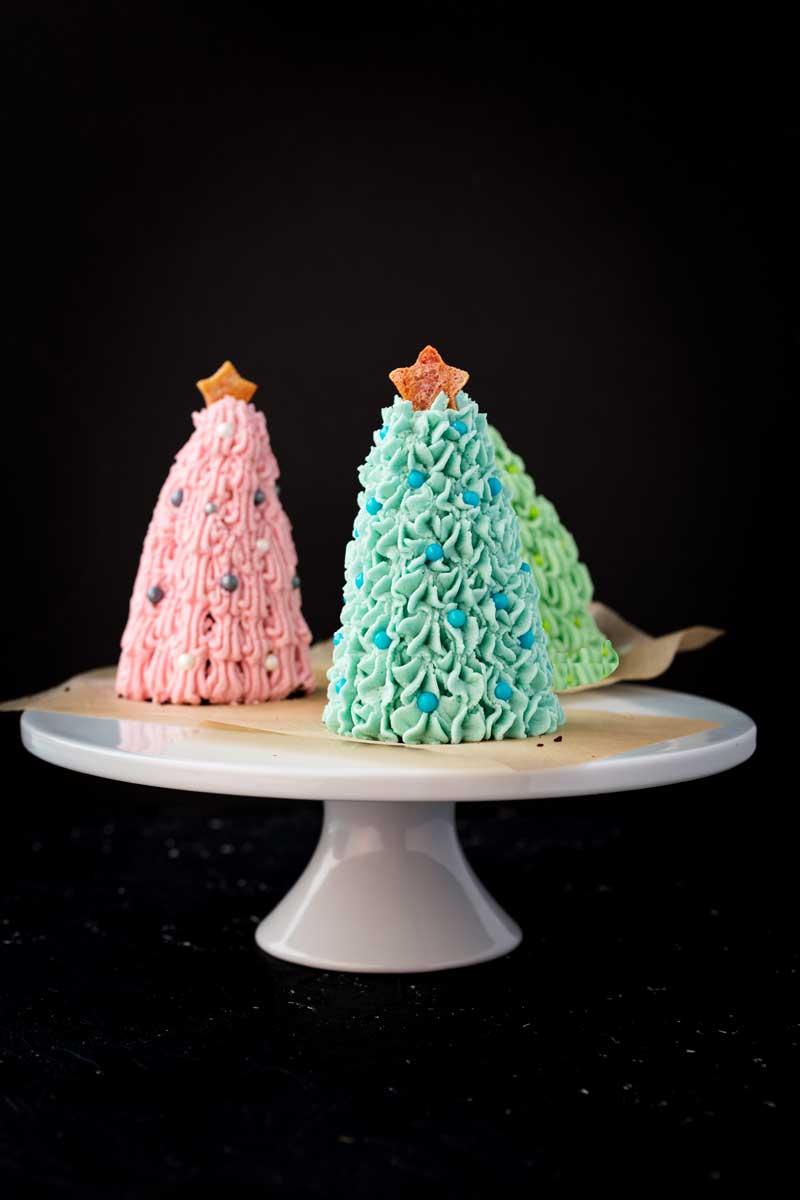 Vegan Dollhouse Vegan Christmas Tree Mini Cakes