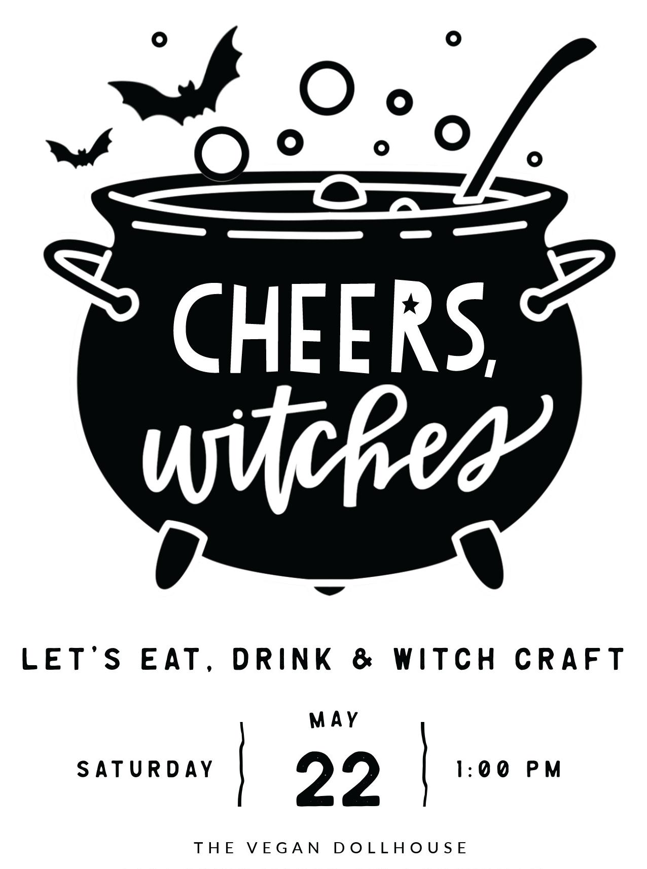 witchcraft birthday party invitation