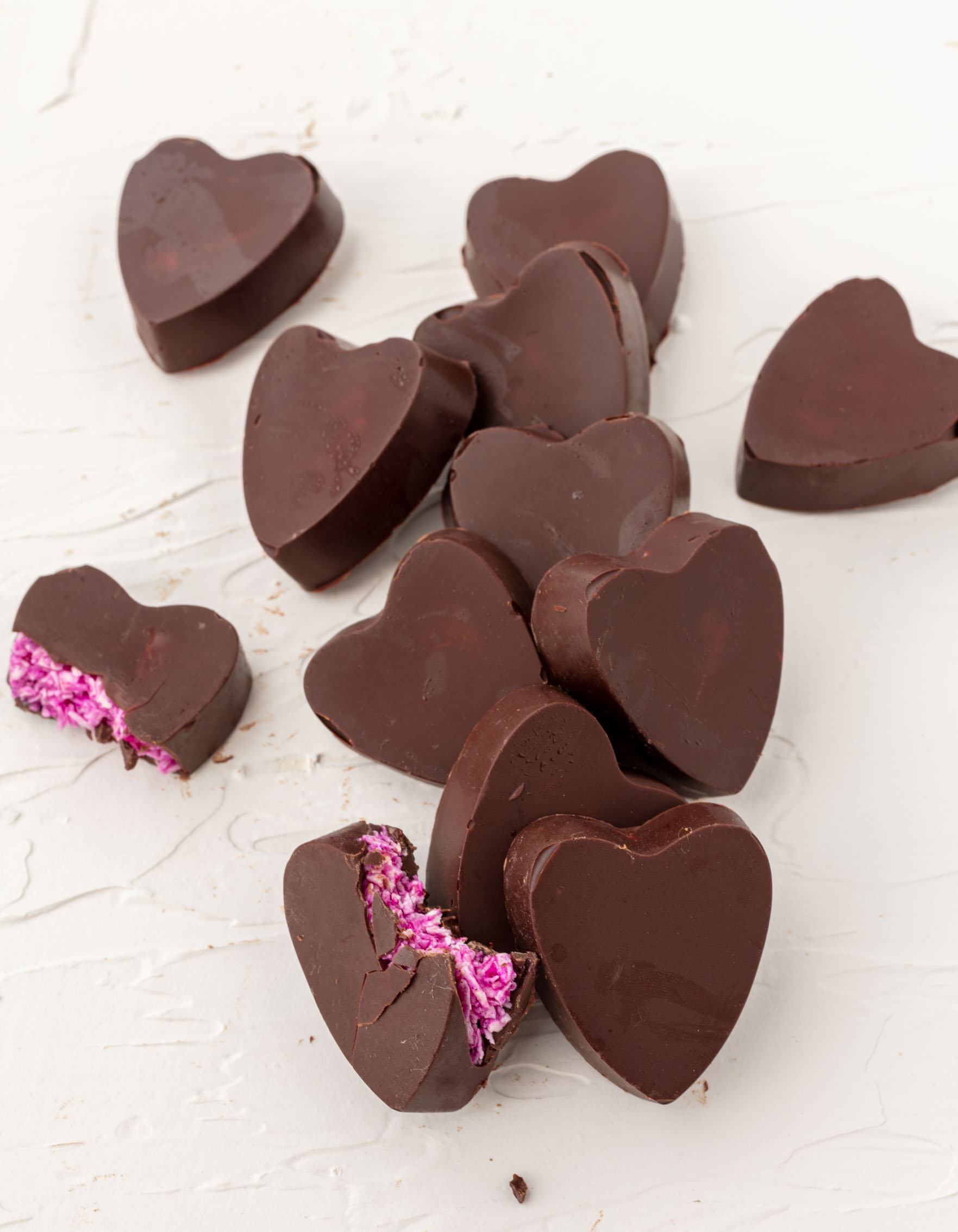 vegan heart-shaped mounds candy