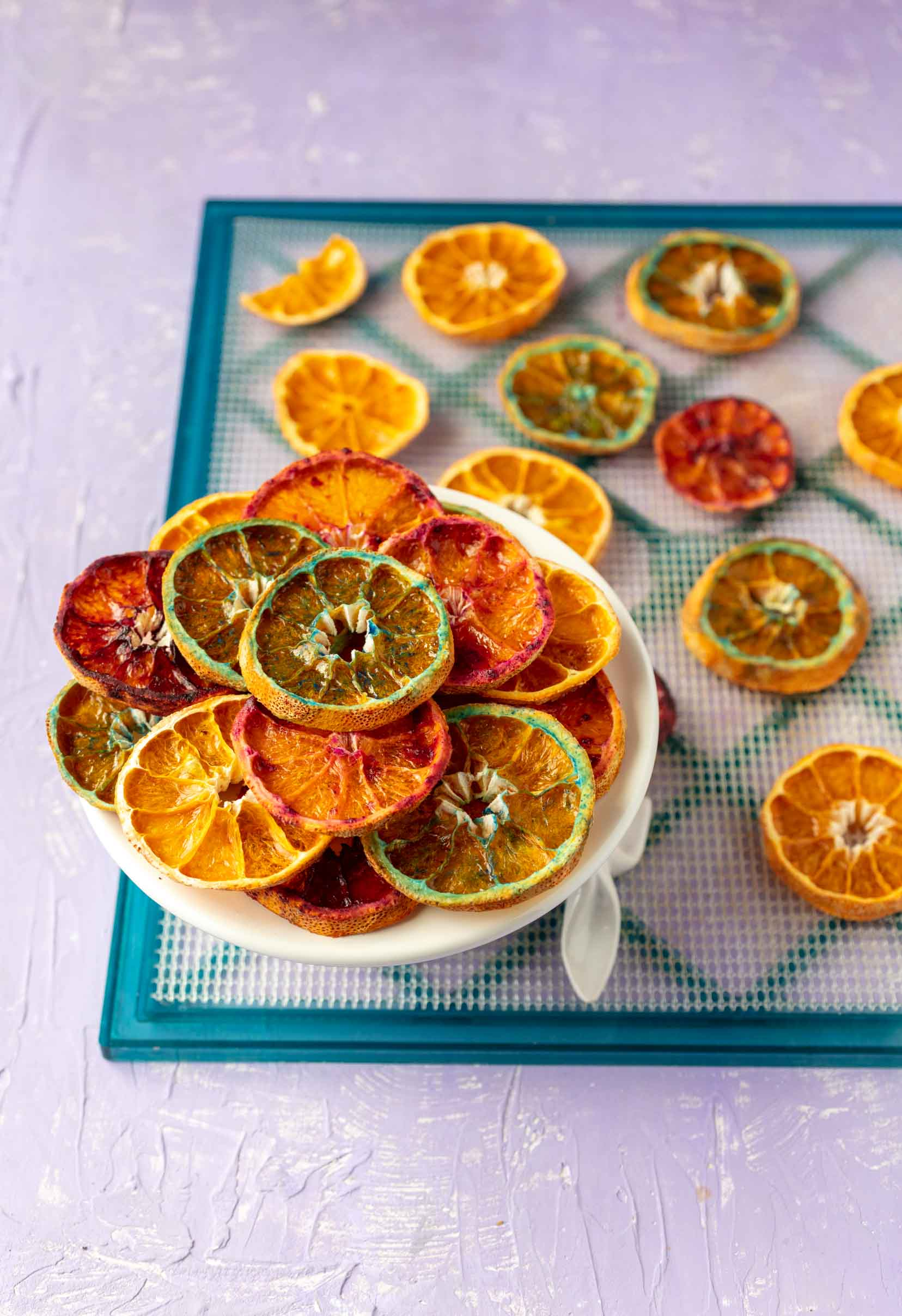 dehydrated candied orange slices