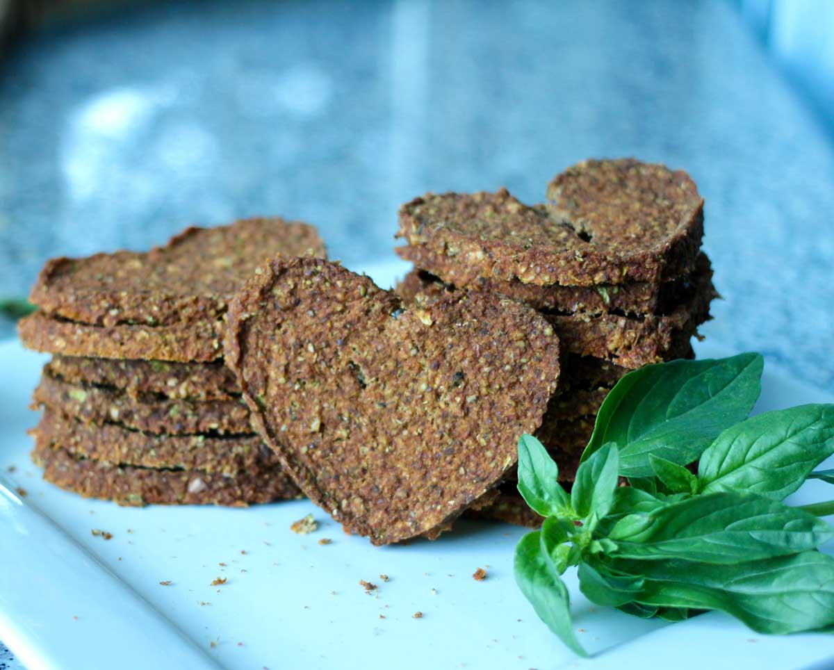 Raw Vegan Pizza Crackers