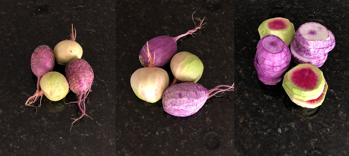 step-by-step pic of radish prep