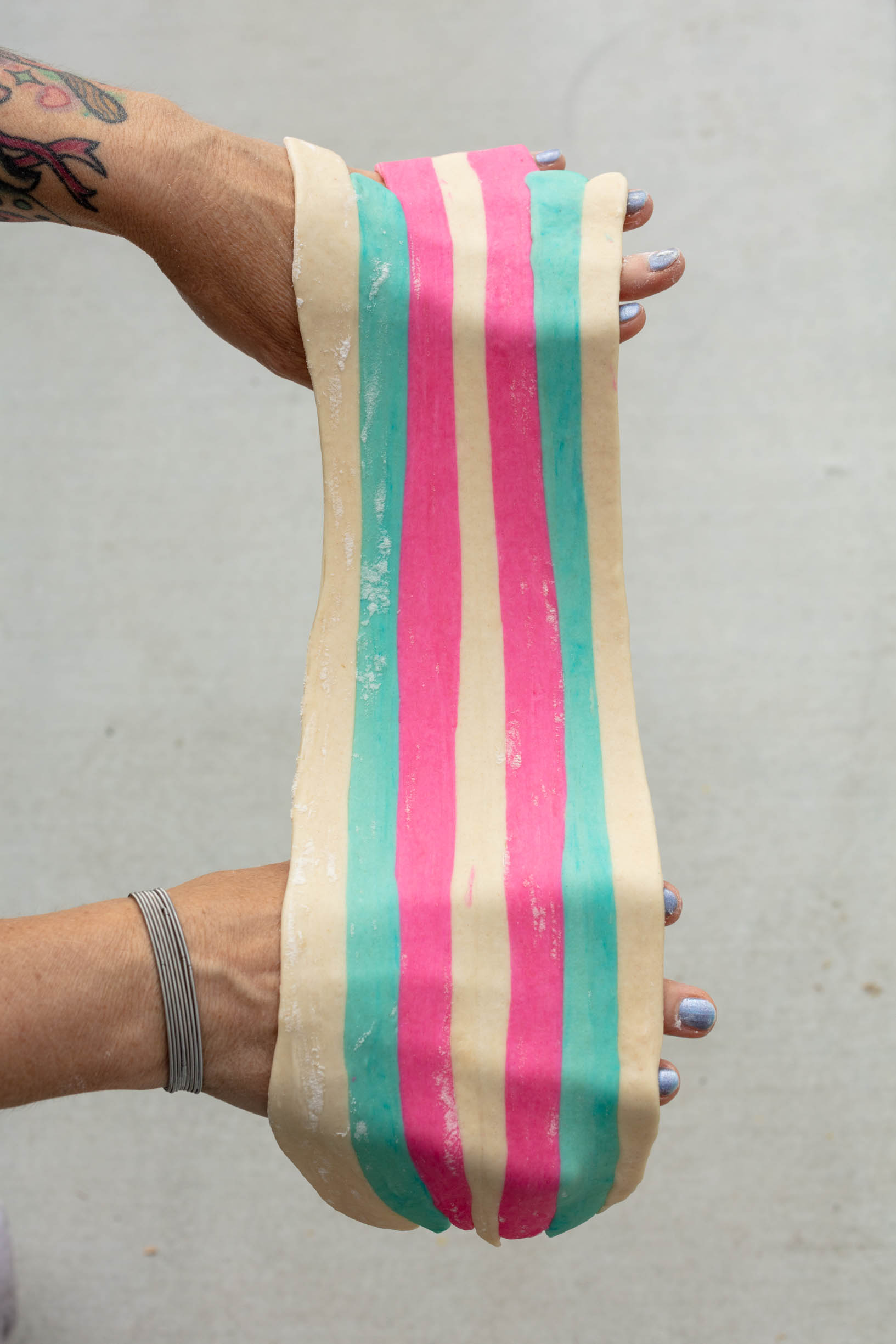 trans flag pasta dough