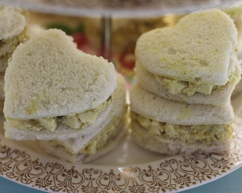 Rosie's eggless salad sandwiches
