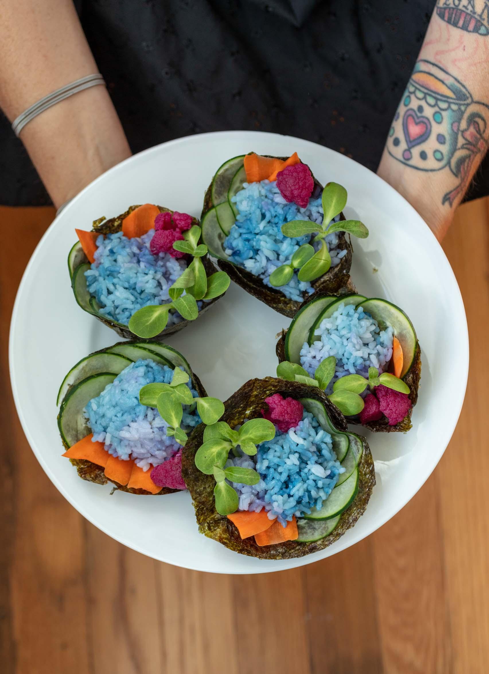 vegan sushi cupcakes